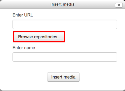 Insert video using repositories