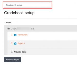 Gradebook actions dropdown menu