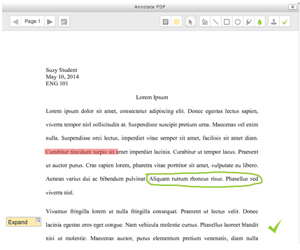 Annotate PDF in Moodle