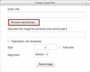 Browse repositories button on add image dialog box