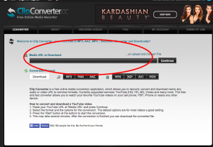 Clip Converter Home Page