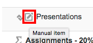 Moodle28 Manual Grade Item Icon