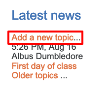 Add new topic in the latest news block