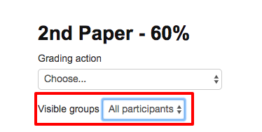 Visible Groups Menu on the Grading Page