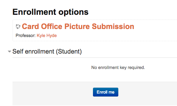 Self enrollment button