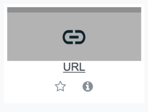 URL resource tile in Moodle